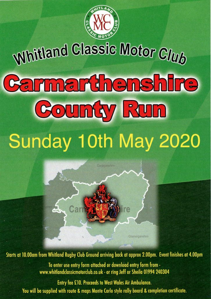 Carmarthenshire County Run 2020 poster